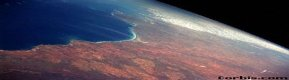 Australian beach from space